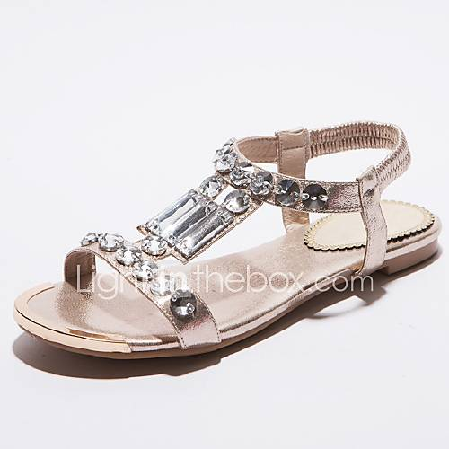 Women S Shoes Flat Heel Mary Jane Sandals Casual Silver Gold
