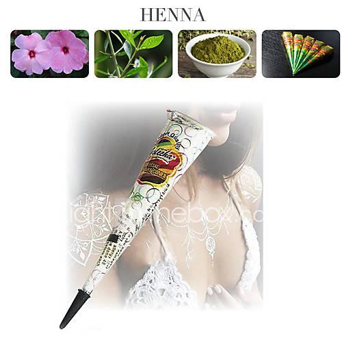 Henna Ink Kit: White Glitter Henna Cones Body Art Mehandi Ink Jagua