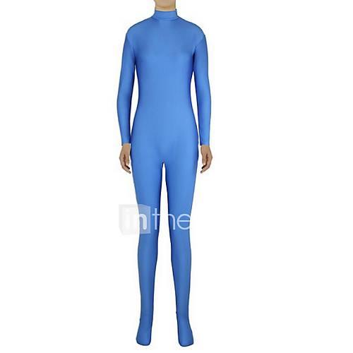Zentai Suits Ninja Zentai Cosplay Costumes Blue Solid Leotard/Onesie / Zentai Lycra / Spandex Unisex Halloween / Christmas