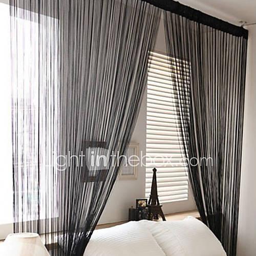 w100cm  l200cm, un panel de cortinas de la secuencia varilla bolsillo línea multicolor bufanda de la borla