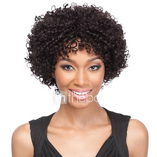 la mode afro cr pus boucl s couleur naturelle 100 perruques perruque de dentelle de cheveux. Black Bedroom Furniture Sets. Home Design Ideas