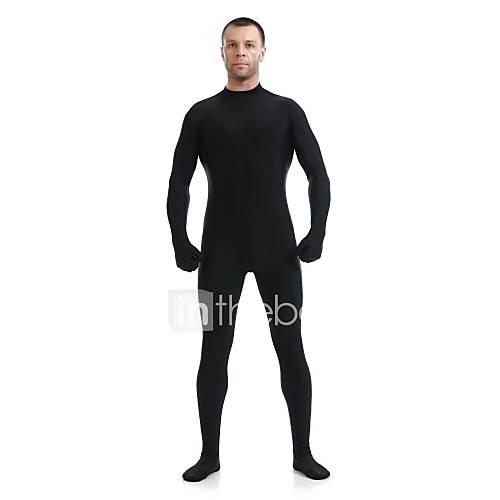 Zentai Suits Ninja Zentai Cosplay Costumes Black Solid Leotard/Onesie / Zentai / Catsuit Lycra / Spandex Unisex Halloween / Christmas