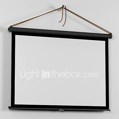 50 inch 16 9 easy carry mini micro portable matte white for Micro projector screen