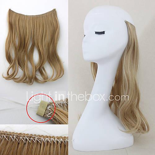 flip in secret hair extensions wavy hair string 4964853. Black Bedroom Furniture Sets. Home Design Ideas