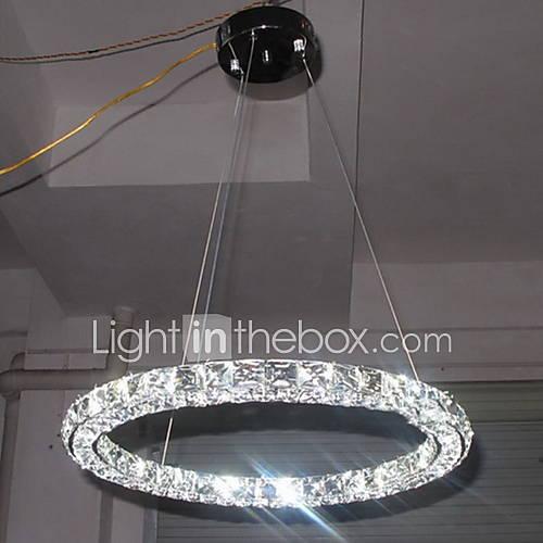 Led Light Fixture Flashing On And Off: LED Crystal Pendant Light Lighting Modern Single D60CM
