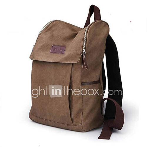 unisex casual canvas backpack cool school bags