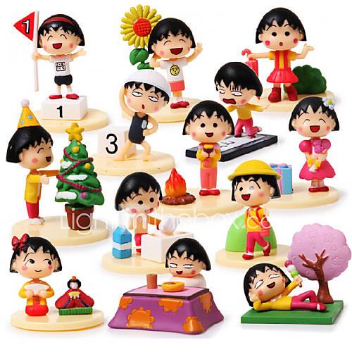 Chibi Maruko Chan Anime Action Figures Model Toys Doll Toy