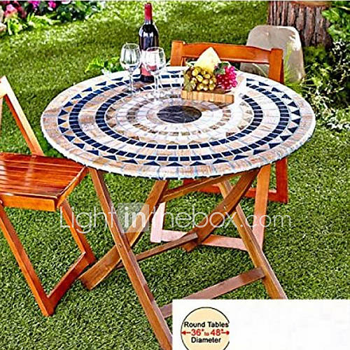 Fitted Mosaic Table Cover Mosaic Tuscan Tile Design Table Go Round Tablecloth