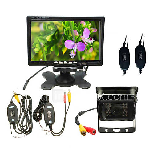 Car Rear View Camera 7-Inch Desktop Monitor  Wireless Bus Camera