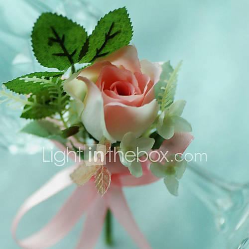 Ramos de Flores para Boda Forma Libre Rosas Ojales Boda / Fiesta / noche Algodón Descuento en Lightinthebox