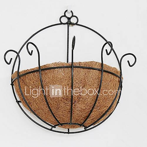 Wall Mount Flower Basket : Pcs natural coconut fibre iron art wall mounted flower