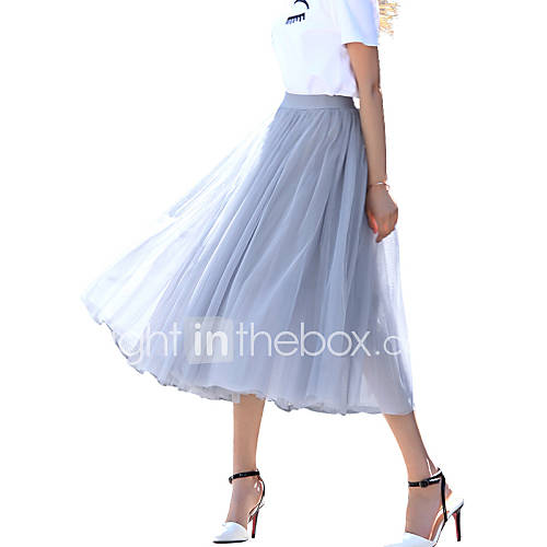 s solid white black gray skirts chic maxi
