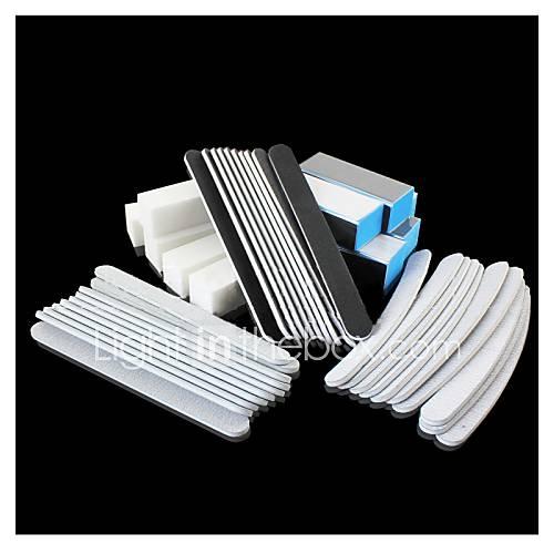 profissional-suprimentos-manicure-areia-polimento-bloco-de-tofu-terno-40-peca