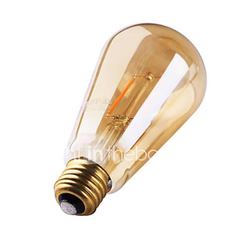 1 pieza GMY E26/E27 2W 2 COB ≥180 lm Blanco Cálido ST64 edison Cosecha Bombillas de Filamento LED AC 100-240 V