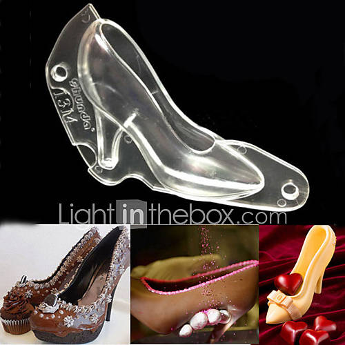 3d high heel shoe chocolate cake decorating pc mould