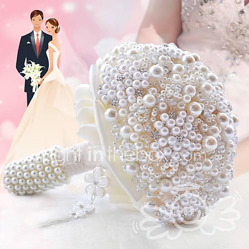Glamorous Pearl Wedding Bouquet Jewelry Cream Bridal Flower 4988944 2016 12299
