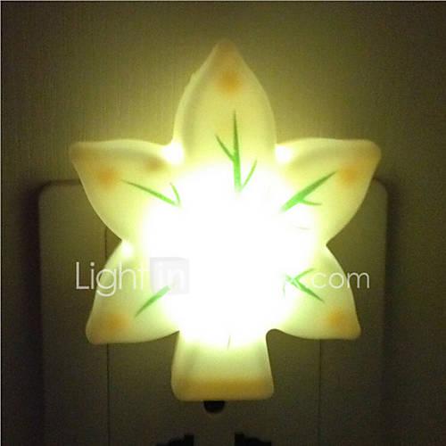 Creative Warm White Leaves Light Sensor Relating to Baby ...
