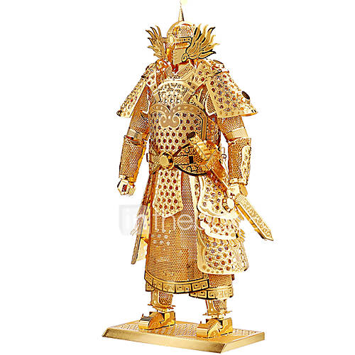 quebra-cabecas-quebra-cabecas-3d-quebra-cabecas-de-metal-blocos-de-construcao-diy-brinquedos-guerreiro-metal-prateada-douradamodelo-e