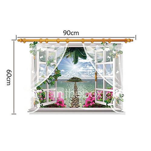 Romance de moda paisaje pegatinas de pared calcoman as 3d for Pegatinas 3d pared
