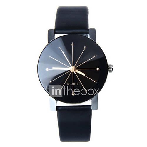 Mujer Reloj de Moda Cuarzo Reloj Casual Piel Banda Negro / Blanco / Azul / Rojo / Marrón / Rosa Marca- Descuento en Lightinthebox