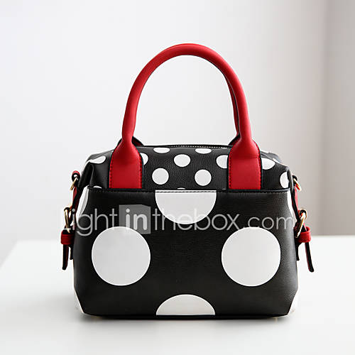 Mujer PU Casual Tote Blanco / Negro Lightinthebox