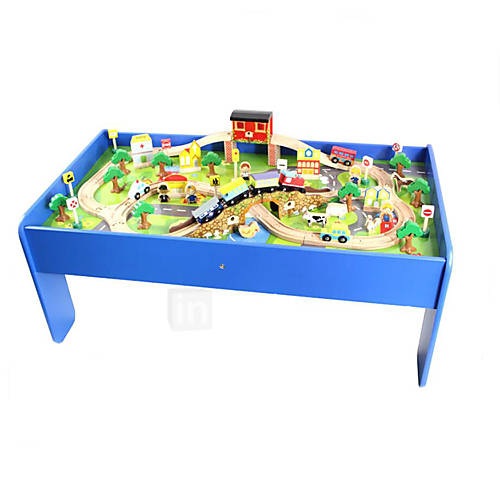 double model table of wooden orbital magnetic train wooden toys compatible thomas ikea brio. Black Bedroom Furniture Sets. Home Design Ideas
