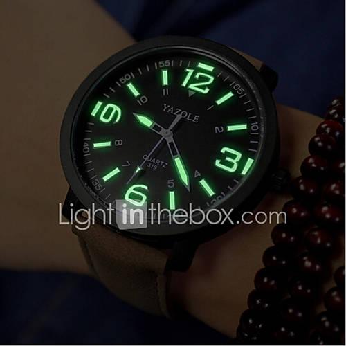 Hombre / Mujer / Pareja Reloj de Moda Cuarzo Resistente al Agua PU Banda Negro / Marrón Marca- Descuento en Lightinthebox