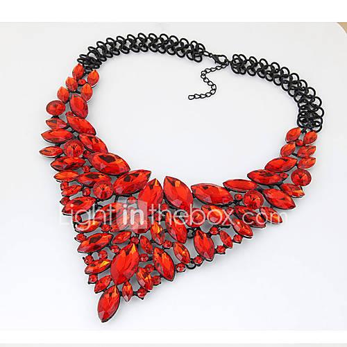 Gargantillas Collares Declaración Joyas Fiesta / Diario / Casual De Moda Legierung Rojo / Azul 1 pieza Regalo Lightinthebox