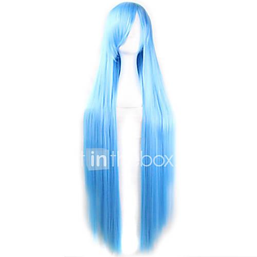 moda-cor-dos-desenhos-animados-peruca-100-centimetros-ceu-azul-longas-perucas-de-cabelo-retas