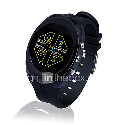 de acero inoxidable reloj teléfono inteligente redonda con ranura para tarjeta SIM y multimedia Descuento en Lightinthebox