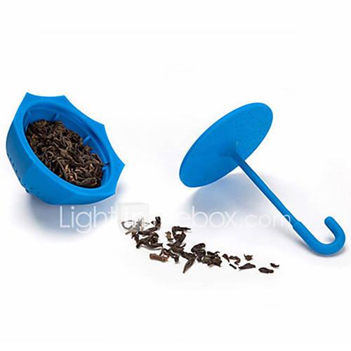colador de té con forma de paraguas de silicona infusor de té a granel filtro de hojas (color al azar) Descuento en Lightinthebox