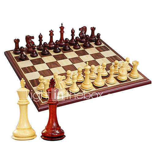 Royal St Large Stereoscopic Chess Pure Wooden Chess Set