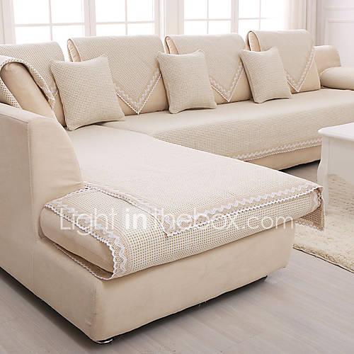 Cotton Linen Slip Resistant Slipcover Fashion Four Seasons