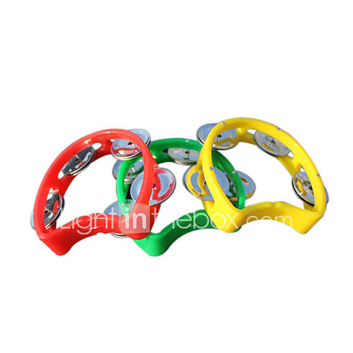 Plastic Toy Musical Instruments : Plastic red yellow blue bell for children all musical
