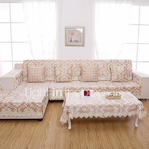 Classical Jacquard Sofa Cover High Grade Chenille Fabric