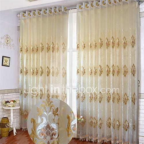 deux panneaux le traitement de fen tre europ en courbe salle de s jour polyester mat riel. Black Bedroom Furniture Sets. Home Design Ideas
