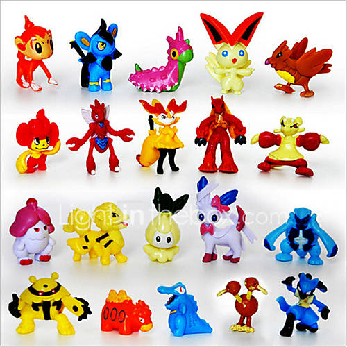 Pocket Little Monster 24pcs Action Figures Cute Monster Mini Figures Toys Best ChristmasBirthday Gifts Brinquedos 3cm
