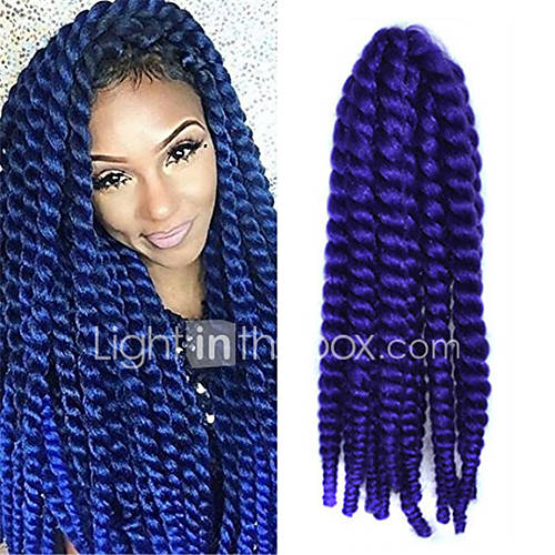 Purple Crochet Box Braids : 12-24 inch Crochet Braid Havana Mambo Afro Twist Hair Extension Purple ...