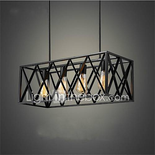 european classical iron 4 head box black bedroom lamp lamp