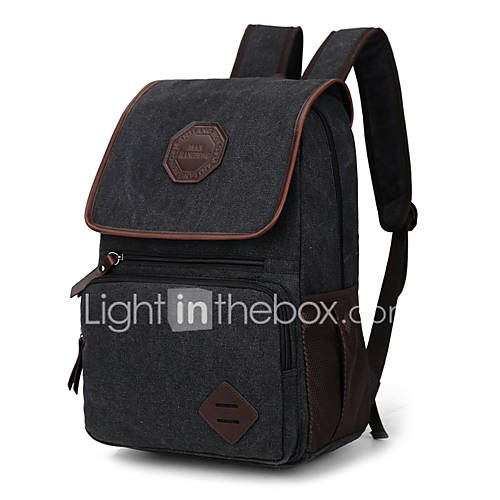 new unisex casual canvas backpack cool school bags