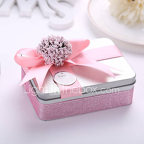 /Set Favor Holder-Cuboid Metal Wedding Favor Boxes Candy Gift Boxes ...