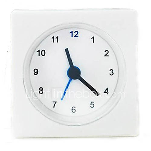 1pc Simple Style Mini Alarm Clock Square Shape Bedside
