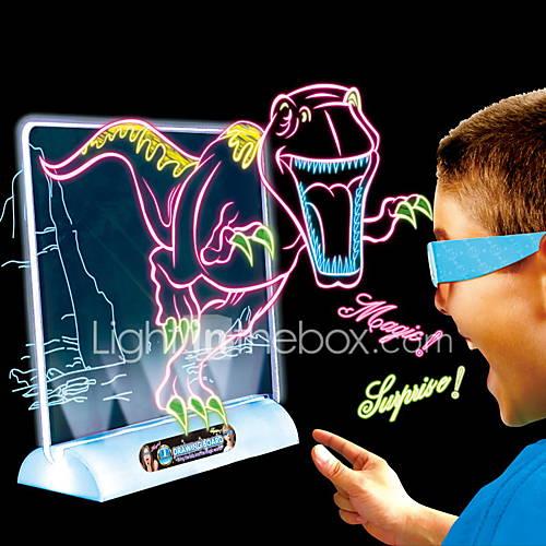 2016 dinosaurio magia juguetes de mesa Draing 3d Lightinthebox