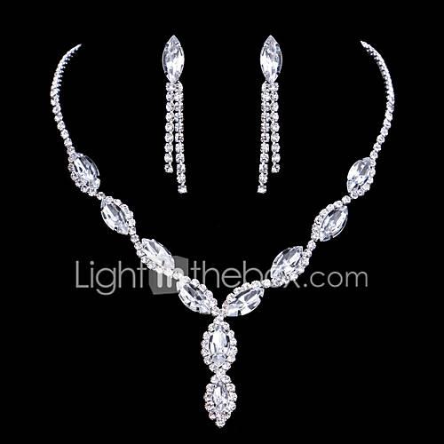 Joyas Collares / Pendientes Collar / pendientes De Moda Boda 1 Set Mujer Plateado Regalos de boda Descuento en Lightinthebox