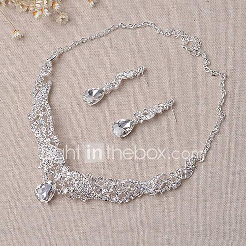 Joyas Collares / Pendientes Los sistemas nupciales de la joyería De Moda Boda / Fiesta 1 Set Mujer Plateado Regalos de boda Descuento en Lightinthebox