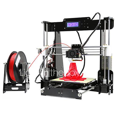 anet a8 de alta precisión de alta calidad fdm escritorio diy 3d impresora (instrucciones de montaje en la tarjeta SD)