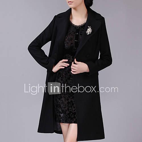 vrouwen-eenvoudig-herfst-winter-jas-casual-dagelijks-v-hals-lange-mouw-blauw-zwart-effen-medium-wol