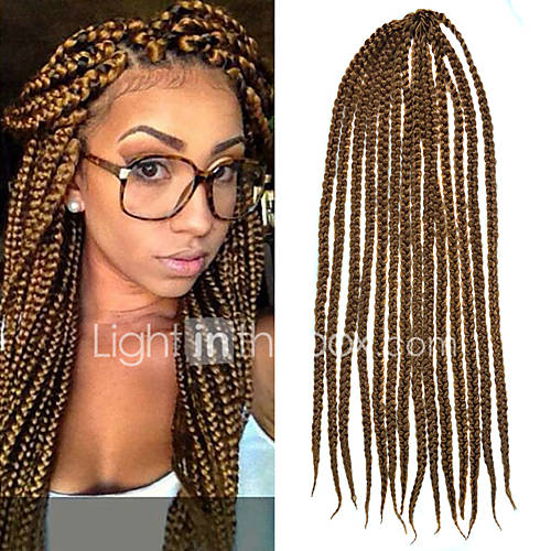 Crochet Box Braids Twist : Light Brown Senegal Crochet Twist Large Box Braids 24 Kanekalon 3 ...
