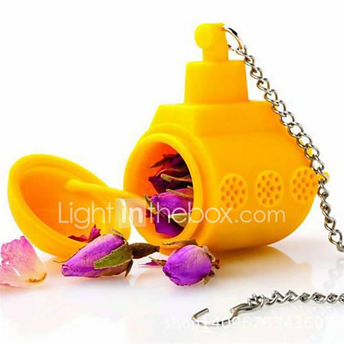 1pc sub té de hojas sueltas submarino amarillo a base de hierbas infusor especia especias de silicona Lightinthebox
