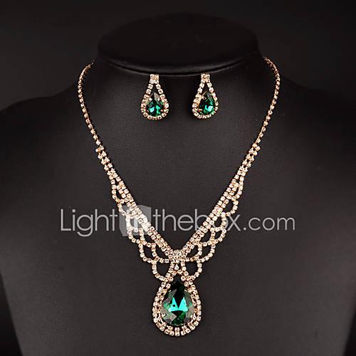 Conjunto de joyas De mujeres Boda / Regalo / Fiesta Sets de Joya Diamantes Sintéticos Cristal / Diamantes Sintéticos Collares / Pendientes Descuento en Lightinthebox